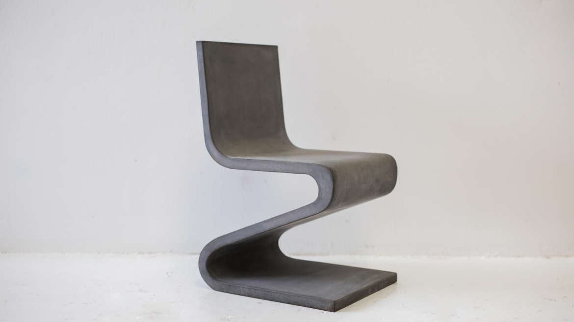 Experimental designers making furniture out of concrete